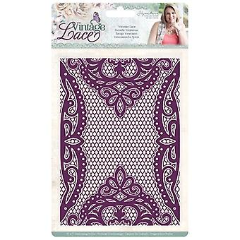 Crafter's Companion Vintage Lace Embossing Folder Venetian Lace