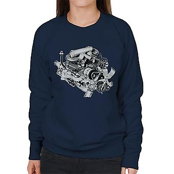 Rover V8 Engine Design British Motor Heritage Women's Sweatshirt