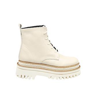 Paloma Barceló Fethiyelatte Women's White Leather Enkellaarsjes