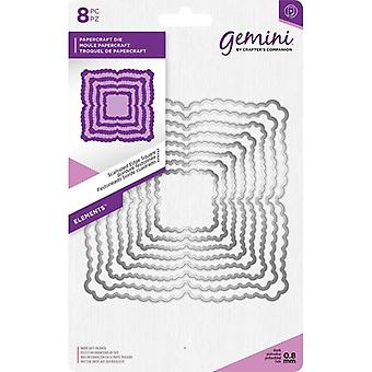Gemini Scalloped Edge Square 2 elementos muere