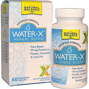Natural Balance, Water-X, Herbal Blend, Maximum Strength, 60 Vegetarian Capsules