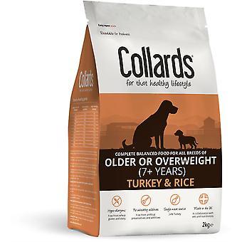 Collards Älterer/Übergewicht Hund - Türkei & Reis - 2kg