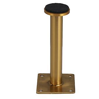 Ruostumaton teräs säädettävä pöytäjalka 6 x 13cm titaani