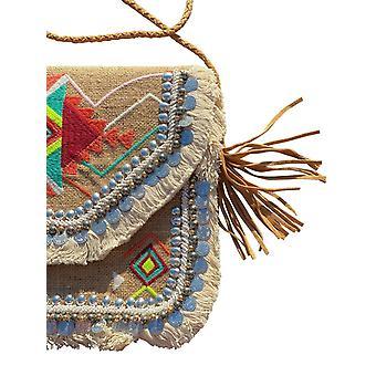 Brown Purses Handbags- Freira Vintage Look Embroidered Tote Bag