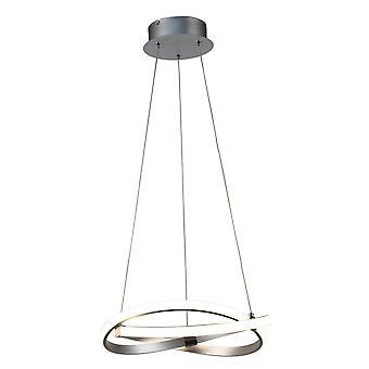 Ceiling Pendant 30W LED 3000K, 2500lm, Silver, Polished Chrome, White Acrylic