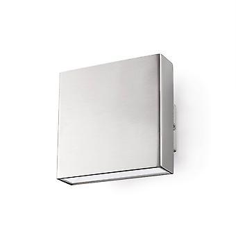 LED Outdoor Small Up Down Wall Light Matt Nickel IP44