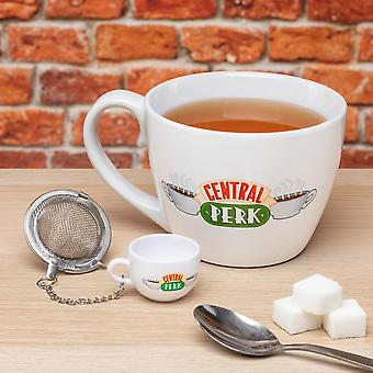 Central Perk Cappuccino Mug & Tea Infuser | Licensed Friends Kitchen Gift Set