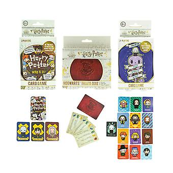 Harry Potter Giochi Bundle Set di 3 Giochi di Carte Trivia Quiz