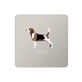 Bailey and Friends Dog Placemat Beagle Grey
