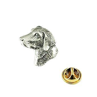 Banden Planet Labradors Hoofd Engels Pewter Repel Pin Badge