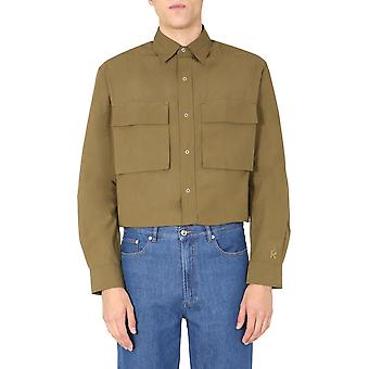 Kenzo Fa65ch5209sa50 Men's Brown Cotton Shirt
