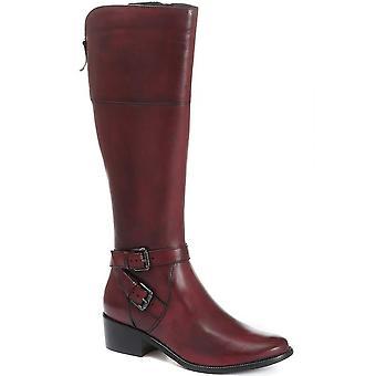 Jones Bootmaker mujeres Slim Fit cuero rodilla bota alta