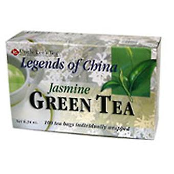 アンクルリースティーズ中国緑茶の伝説、ジャスミン、100バッグ