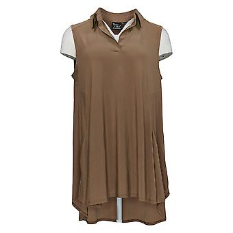 Women with Control Women's Petite Top Sleeveless Brown A305909