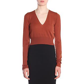 Rick Owens Rp18f4638m73 Women's Brown Wool Sweater