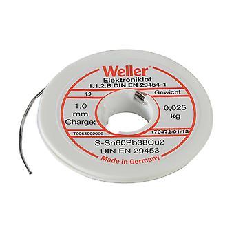 Weller EL60/40-25 Electronic Solder Resin Core 25g WEL54002999