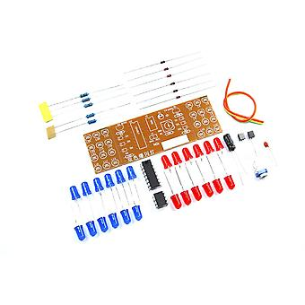 Flashing Red Blue LED DIY Kit