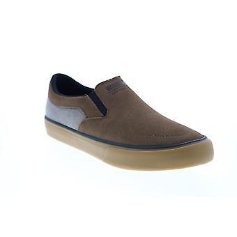 Skechers Sc Gatlyn  Mens Brown Suede Slip On Lifestyle Sneakers Shoes