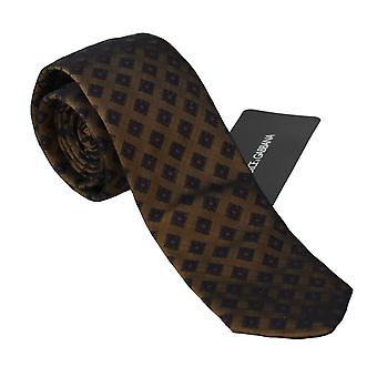 דולצ ' ה & גבאנה בראון מדגם קלאסי Mens עניבה לעניבה