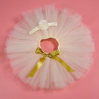 Newborn Baby Tutu Skirt & Headband Set, Photography Props, Infant Fluffy Tulle