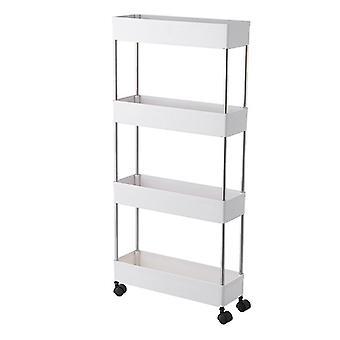 Kitchen Storage Rack Cart, Bathroom Movable Shelf With Wheel, Room Gap Slim