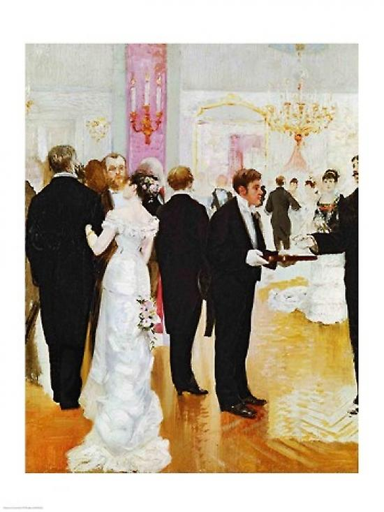 Posterazzi The Wedding Reception Poster Print by Jean Beraud 18.00 ...