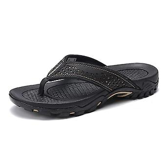 Pu Leather Summer Slippers Beach Sandals Comfort &casual Shoes