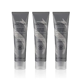 3 x Sanctuary Spa Warming Charcoal Detox Wash 100ml