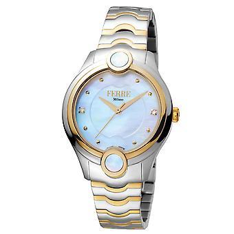 Ferre Milano FM1L083M0071 Women's White MOP Dial Stainle Steel  Watch