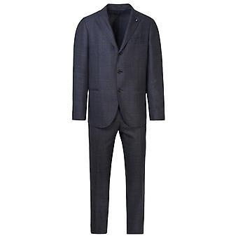 Lardini Im854aerp55497830 Men's Grey Wool Suit