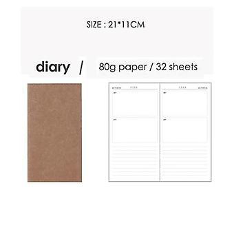 Jianwu Creative Kraft Paper Traveler Notebook Dentro del cuaderno del diario de la página