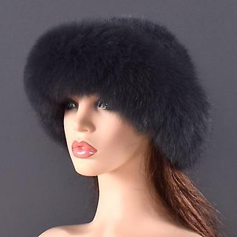 Winter Genuine Fox Fur Caps & real Mink Fur Bomber / luxe Quality Winter Hats,