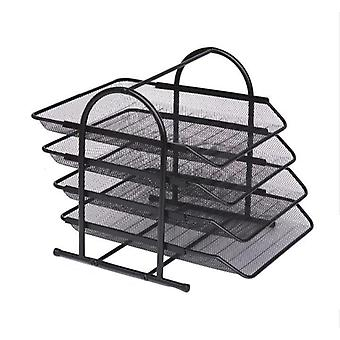 Office Filing Trays Holder A4 Document Letter Paper Wire Mesh Storage Organizer