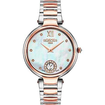 Roamer 600843 49 19 50 Two Tone Aphrodite Mother Of Pearl Dial Wristwatch