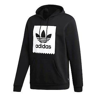 Adidas Erkek Katı Kaykay Trefoil Hoodie Grafik Sweatshirt Siyah CW2358
