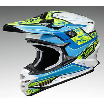 Shoei VFX W Onrust TC2 XL Off Road Motocross & ATV Helm Blauw