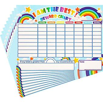 Outus 10 pieces reward chore chart dry erase behavior chart learning responsibility star chart reusa