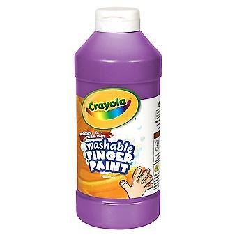 Pintura de dedo lavable Crayola, violeta, 16 Oz