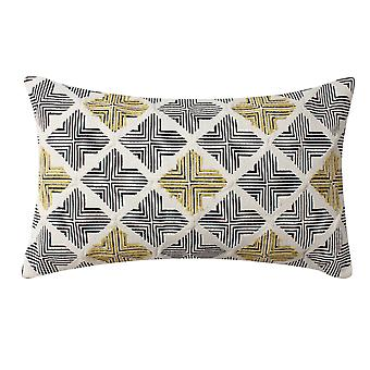 20 X 12 Almohada de acento de algodón tejida a mano con estampado Jacquard, multicolor