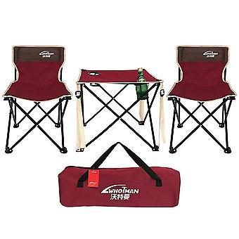 Kannettava kevyt taittuva camping-pöytätuolin puutarhasetti