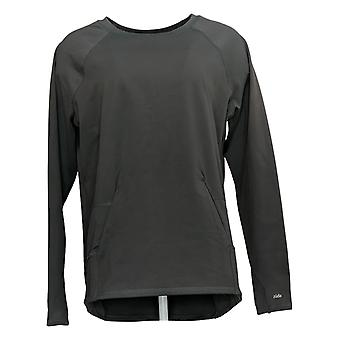 Zuda Women's Ultrasoft Long Sleeve Sweatshirt W/ Pockets Gray A371977