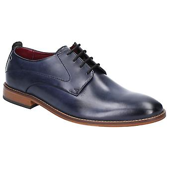 Base script washed leather mens formal shoes navy UK Size