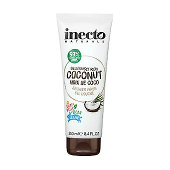 Coconut shower gel with pure organic coconut oil 250 ml of gel