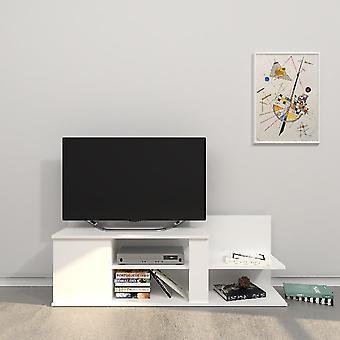 Mobile Marshall TV Port Biały kolor w płytce wiórowej Melamine, L120xP30.5xA42.5 cm