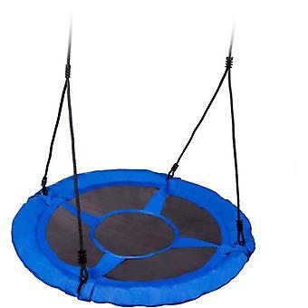 Nestschaukel blau von 600D Polyester 95 cm Durchmesser Schaukel einschließlich Seile