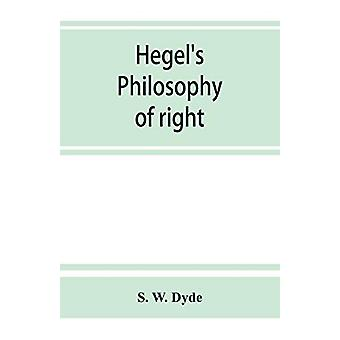 Hegel's Philosophy of right by S W Dyde - 9789353864521 Book