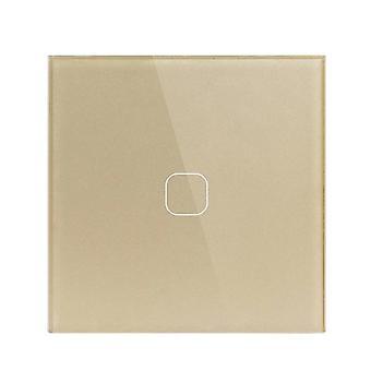 Сенсорный переключатель Eu Стандартный кристалл стекла Панель Свет Ac230v Переключатель 1gang 1 Путь