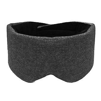 Unisex cotton blackout eye mask oversized eyeshade adjustable sleeping blindfold 68ud