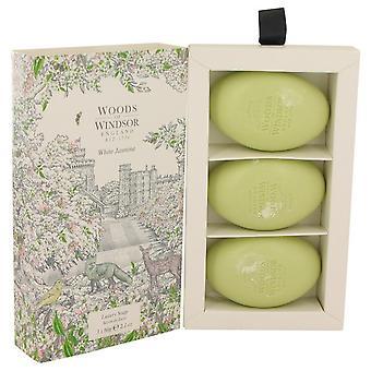 White jasmine three 2.1 oz luxury soaps by woods of windsor 538836 62 ml