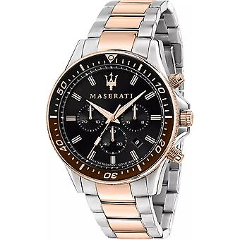 Maserati R8873640009 Chronographe Sfida Homme Bracelet à deux tons Montre-bracelet